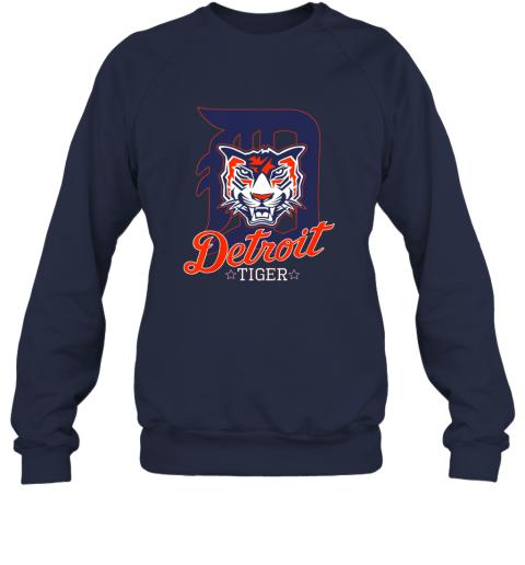 vxjk tiger mascot distressed detroit baseball t shirt new sweatshirt 35 front navy
