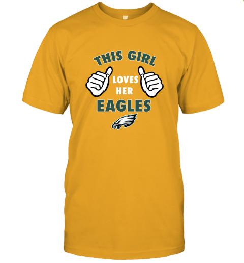 w6rl this girl loves her philadelphia eagles jersey t shirt 60 front gold