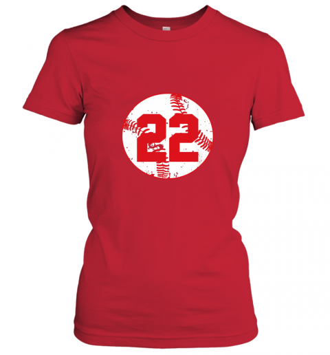 sfau womens vintage baseball number 22 shirt cool softball mom gift ladies t shirt 20 front red