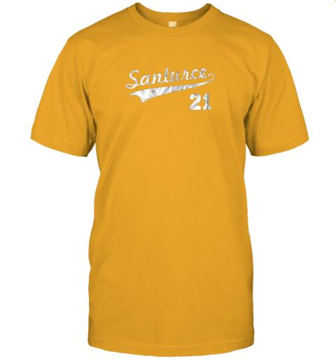 shyt vintage distressed santurce 21 puerto rico baseball jersey t shirt 60 front gold