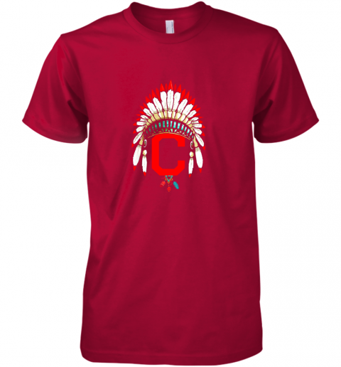 unpk new cleveland hometown indian tribe vintage for baseball premium guys tee 5 front red