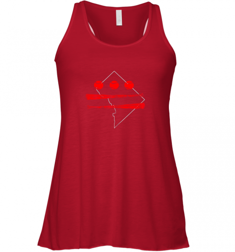 x3ls washington dc map capitol baseball flag flowy tank 32 front red
