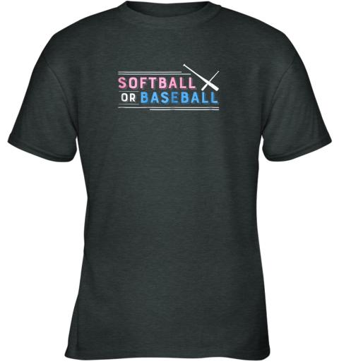 s55r softball or baseball shirt sports gender reveal youth t shirt 26 front dark heather