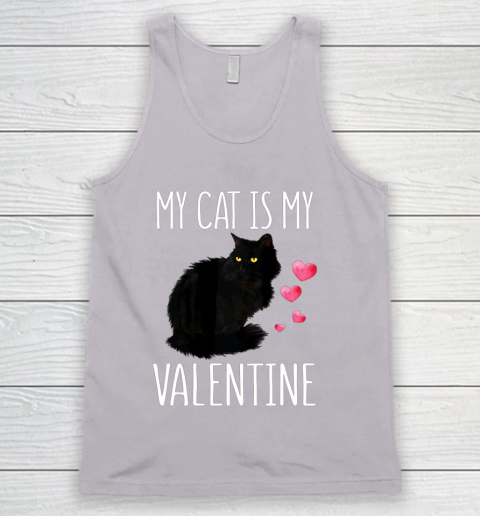 Black Cat Shirt For Valentine s Day My Cat Is My Valentine Tank Top 3