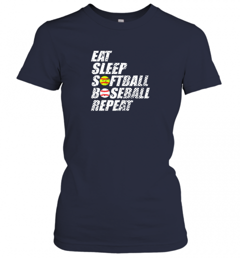 tj5q softball baseball repeat shirt cool cute gift ball mom dad ladies t shirt 20 front navy