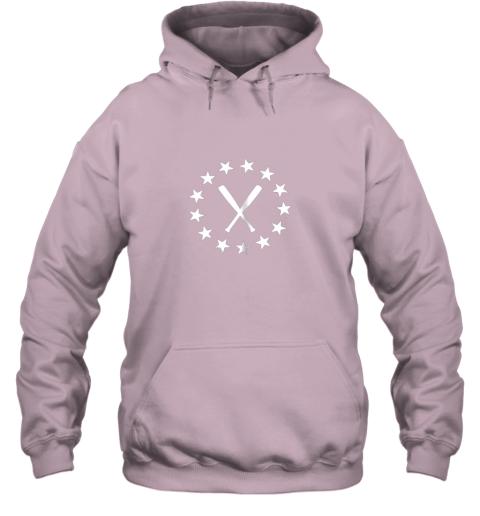8uq1 baseball with bats shirt baseballin player gear gifts hoodie 23 front light pink