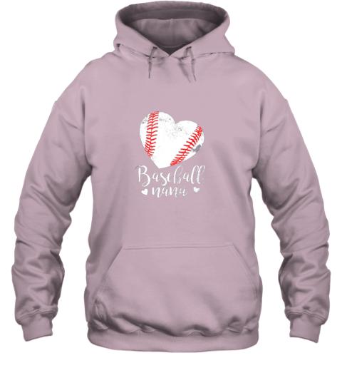 ztmy funny baseball nana shirt gift for men women hoodie 23 front light pink