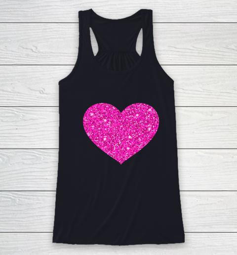 Pink Valentine Heart Love Fun Husband Wife Racerback Tank 7