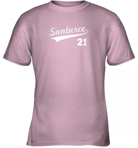kwp2 vintage santurce 21 puerto rico baseball youth t shirt 26 front light pink