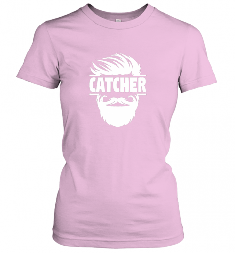 lswh bearded baseball catcher ladies t shirt 20 front light pink