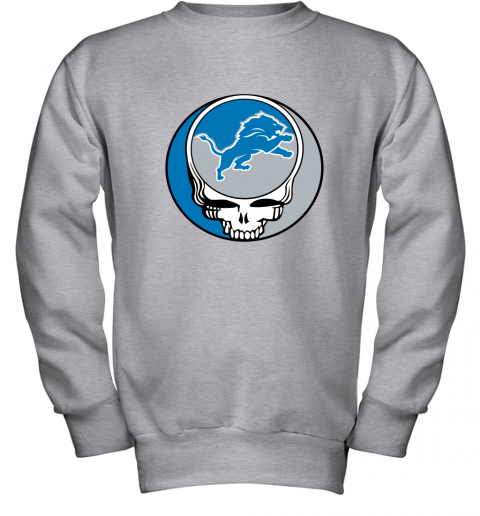 remn nfl team detroit lions x grateful dead youth sweatshirt 47 front sport grey