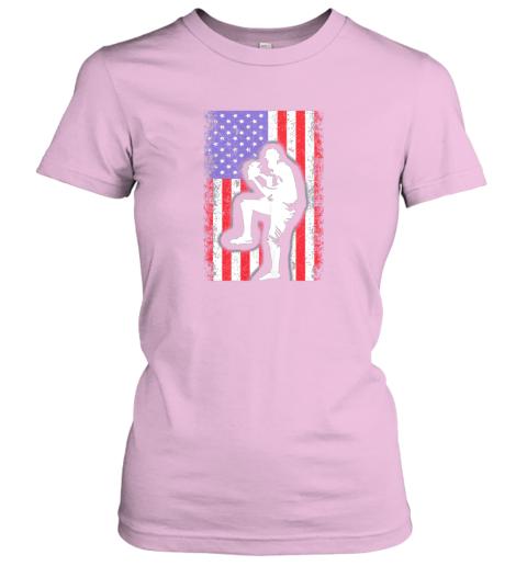 x8ce vintage usa american flag baseball player team gift ladies t shirt 20 front light pink