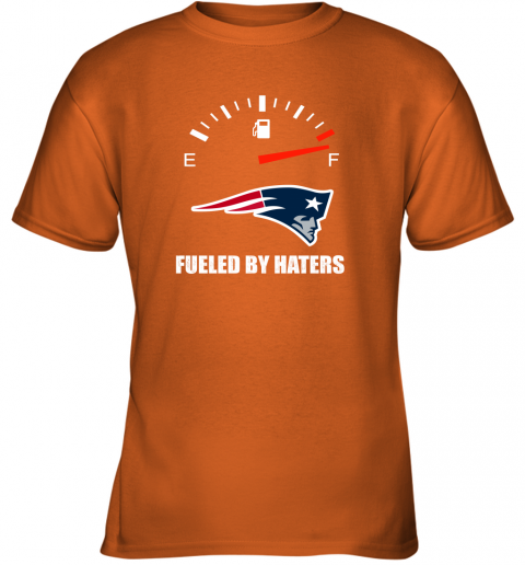 kulz fueled by haters maximum fuel new england patriots youth t shirt 26 front safety orange