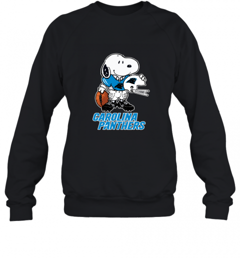 Snoopy A Strong And Proud Carolina Panthers NFL Sweatshirt