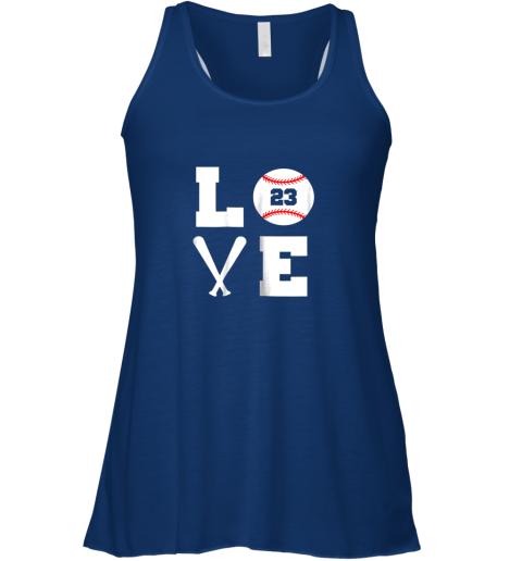 lrjt i love baseball player number 23 gift shirt flowy tank 32 front true royal