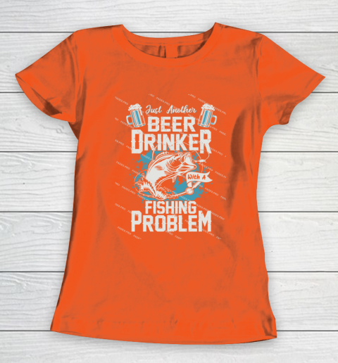 Beer Lover Funny Shirt Fishing ANd Beer Women's T-Shirt 3