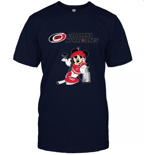 lo8o mickey carolina hurricanes with the stanley cup hockey nhl jersey t shirt 60 front navy