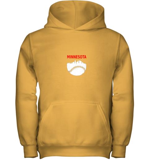 2rn7 retro minnesota baseball minneapolis cityscape vintage shirt youth hoodie 43 front gold