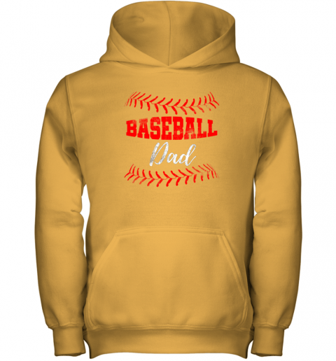 5nit mens baseball inspired dad fathers day youth hoodie 43 front gold