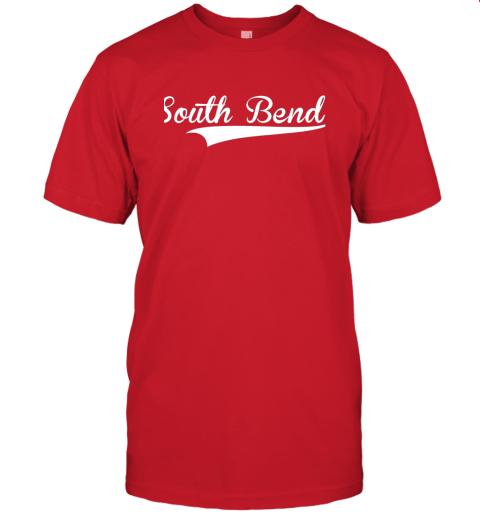 tyoz south bend baseball styled jersey shirt softball jersey t shirt 60 front red