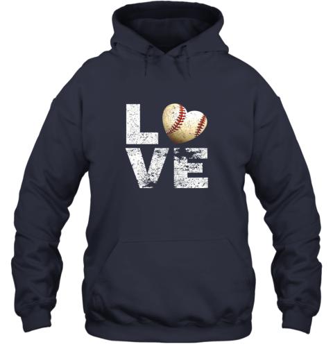 znls i love baseball funny gift for baseball fans lovers hoodie 23 front navy
