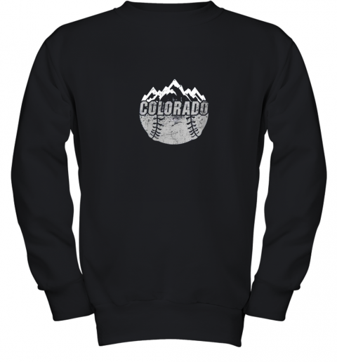 Colorado Baseball Rocky Mountains Design Gift Youth Sweatshirt