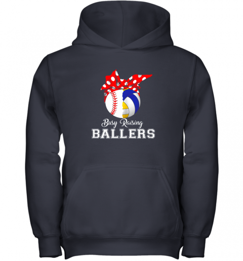 4zxv baseball volleyball busy raising ballers shirt mothers day youth hoodie 43 front navy