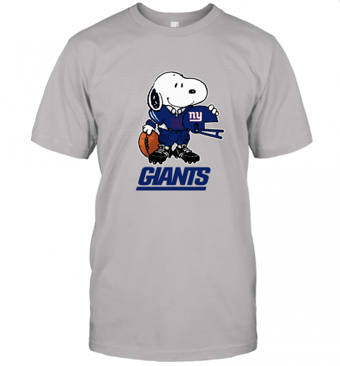 Snoopy A Strong And Proud New York Giants Player NFL Unisex Jersey Tee