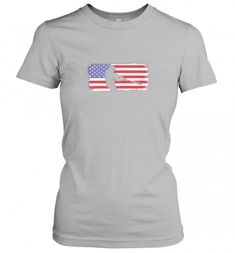 vovp usa american flag baseball player perfect gift ladies t shirt 20 front sport grey