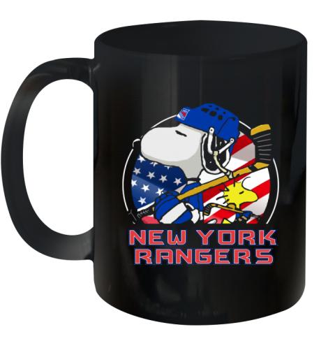 New York Ranger  Snoopy And Woodstock NHL Ceramic Mug 11oz