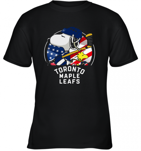 Toronto Mapples Leafs  Snoopy And Woodstock NHL Youth T-Shirt