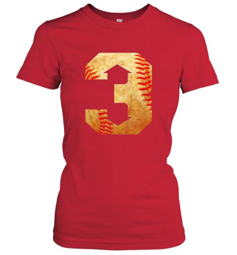 mhes three up three down baseball 3 up 3 down ladies t shirt 20 front red
