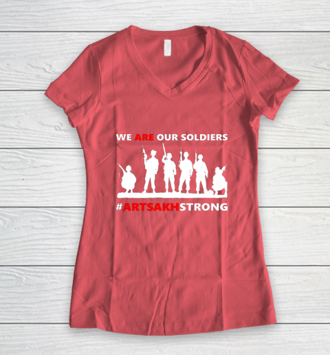 We Are Our Soldiers Women's V-Neck T-Shirt 4