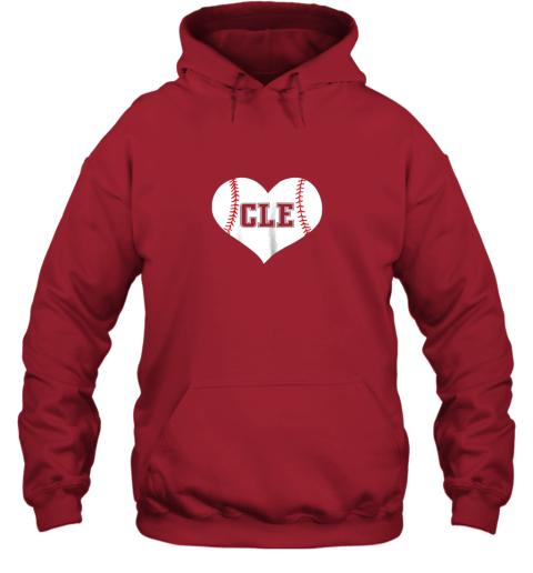 eta9 cleveland ohio baseball love heart cle gift jersey fan hoodie 23 front red