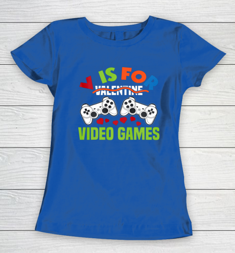 Funny Video Games Lover Valentine Day Women's T-Shirt 8