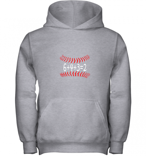 txbo funny baseball 6432 double play shirt i gift 6 4 32 math youth hoodie 43 front sport grey