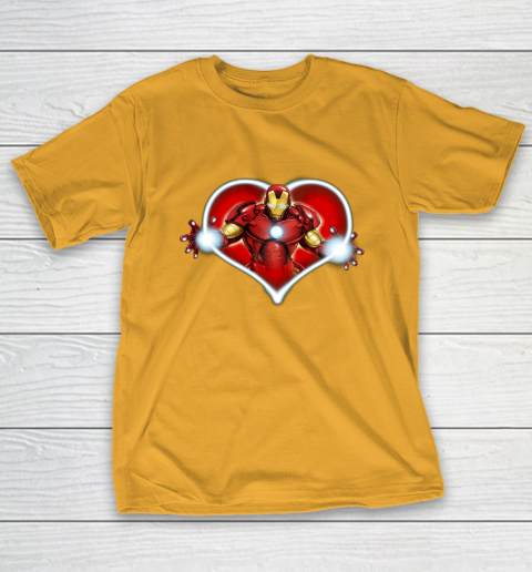 Marvel Iron Man Heart Blaster Glow Valentine Graphic T-Shirt 2