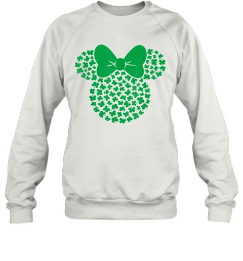 Disney Minnie Mouse Icon Green Shamrocks St. Patrick'S Day Sweatshirt