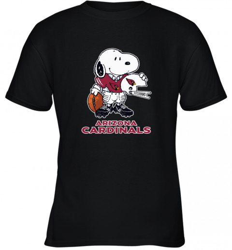 Snoopy A Strong And Proud Arizona Cardinals NFL Youth T-Shirt