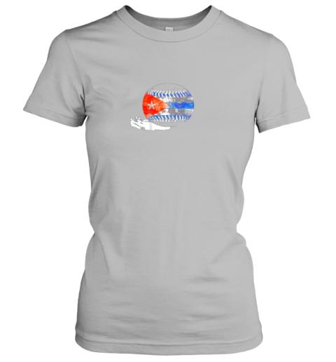 6pdk vintage baseball cuba flag shirt cuban pride ladies t shirt 20 front sport grey