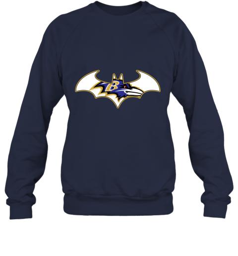 bul4 we are the baltimore ravens batman nfl mashup sweatshirt 35 front navy