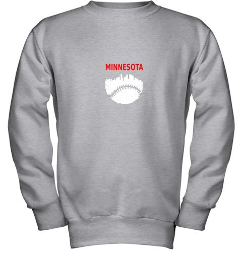 to44 retro minnesota baseball minneapolis cityscape vintage shirt youth sweatshirt 47 front sport grey