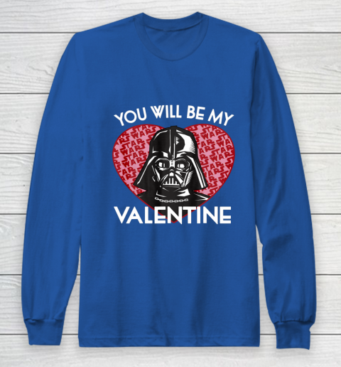 Star Wars You Will Be My Valentine Darth Vader Long Sleeve T-Shirt 6