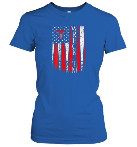 lkis texas tech red raiders baseball flag team name ladies t shirt 20 front royal