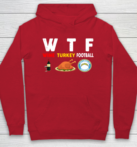 Los Angeles Chargers Giving Day WTF Wine Turkey Football NFL Hoodie 7