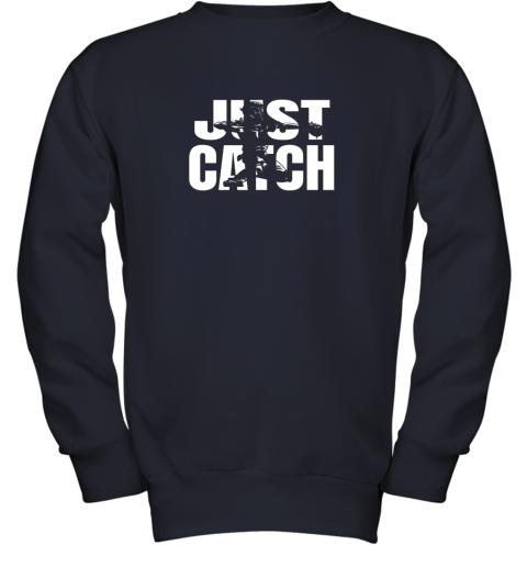 x02p just catch baseball catchers long sleeve shirt baseballisms youth sweatshirt 47 front navy