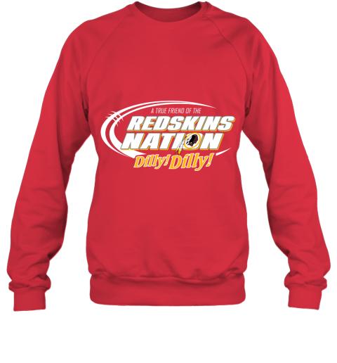 t5ot a true friend of the redskins nation sweatshirt 35 front red