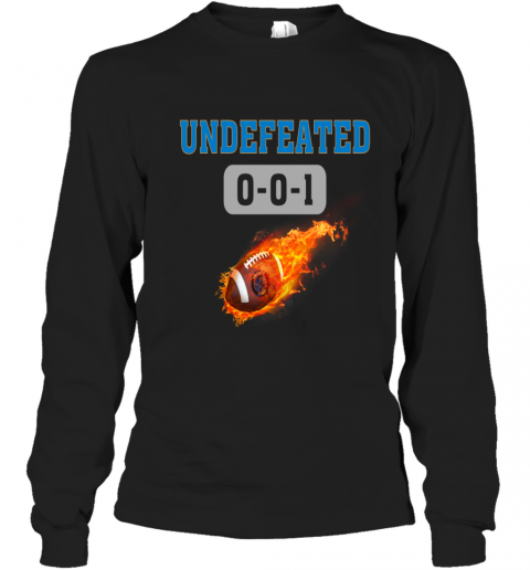 NFL DETROIT LIONS LOGO Undefeated Long Sleeve T-Shirt