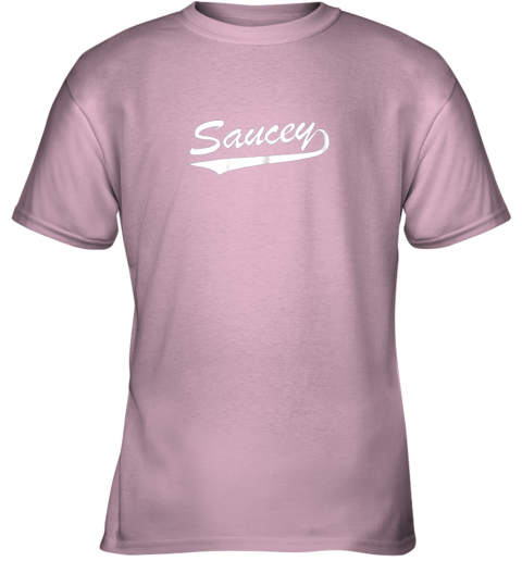 8obk saucey swag baseball youth t shirt 26 front light pink
