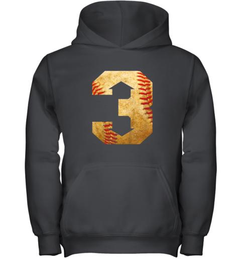 Three Up Three Down Baseball 3 Up 3 Down Youth Hoodie
